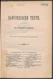 Slovinzische Texte