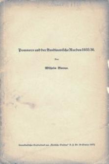 Pommern und die skandinavische Norden 1935/36