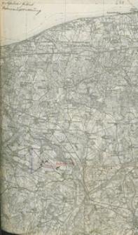 Wycinek mapy topograficznej fragmentu powiatu kołobrzesko-karlińskiego