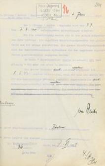 Pismo Sztabu 5. (Pruskiego) Regimentu Kawalerii w Słupsku do prezydenta rejencji koszalińskiej z 2.06.1931 r.