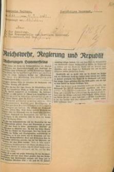 """Wycinek z """"Vossische Zeitung"""" z 21.09.1930 r."""