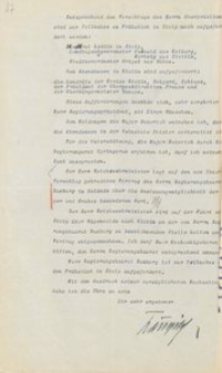Pismo szefa II Okręgu Wojskowego w Szczecinie do prezydenta rejencji koszalińskiej z 4.10.1926 r.