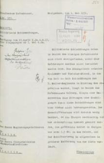 Pismo Preußisches Hafenbauamt do prezydenta rejencji koszalińskiej z 6.05.1931