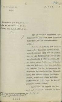 Pismo nadburmistrza Koszalina do prezydenta rejencji koszalińskiej z 17.05.1933 r.
