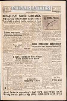 Dziennik Bałtycki, 1950, nr 225