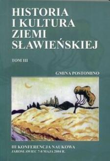 Historia i kultura Ziemi Sławieńskiej. T. 3, Gmina Postomino