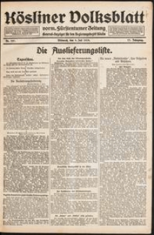 Kösliner Volksblatt [1919-07] Nr. 157