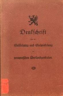 Denkschrift über die Entstehung und Entwickelung der pommerschen Überlandzentralen