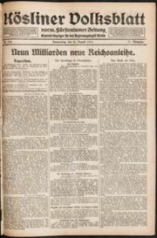 Kösliner Volksblatt [1919-08] Nr. 194