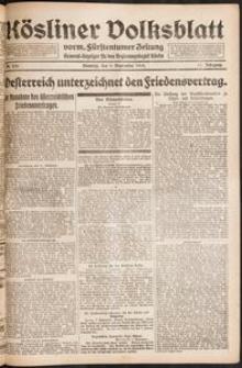 Kösliner Volksblatt [1919-09] Nr. 210