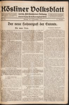 Kösliner Volksblatt [1919-09] Nr. 215