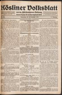 Kösliner Volksblatt [1919-09] Nr. 218