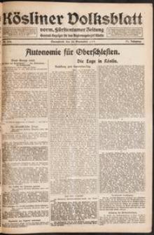 Kösliner Volksblatt [1919-09] Nr. 220