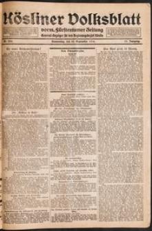 Kösliner Volksblatt [1919-09] Nr. 224