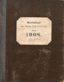 Kreisblatt des Kreises Schivelbein. Jahrgang 1908