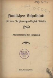 Amtliches Schulblatt für den Regierungsbezirk Köslin 1940