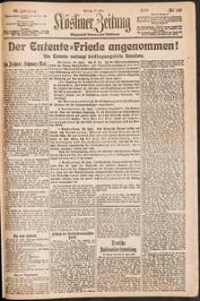 Kösliner Zeitung [1919-06] Nr. 143