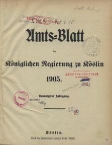Amtsblatt der Königlichen Regierung zu Köslin 1905
