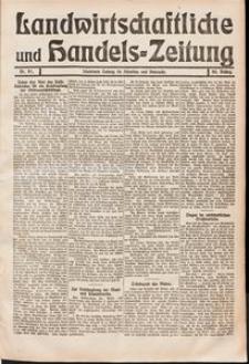 Landwirtschaftliche und Handels - Zeitung Nr. 41/1911