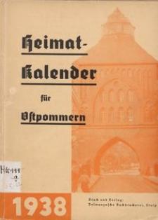 Heimatkalender für Ostpommern auf das Jahr 1938