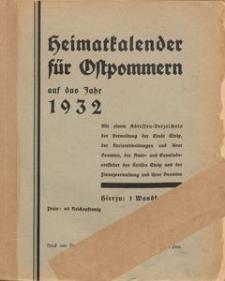 Heimatkalender für Ostpommern auf das Jahr 1932