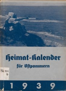 Heimatkalender für Ostpommern auf das Jahr 1939