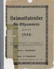 Heimatkalender für Ostpommern auf das Jahr 1930
