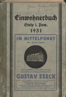 Einwohnerbuch der Stadt Stolp in Pommern 1931