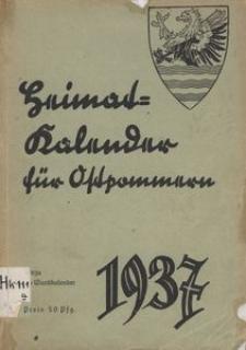 Heimatkalender für Ostpommern auf das Jahr 1937