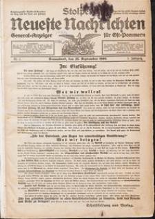 Stolper Neueste Nachrichten Nr. 1/1909