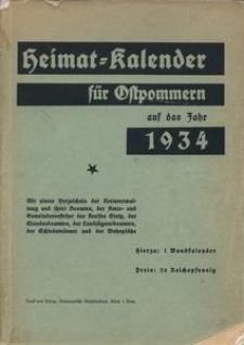 Heimatkalender für Ostpommern auf das Jahr 1934