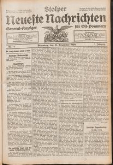 Stolper Neueste Nachrichten Nr. 74/1909