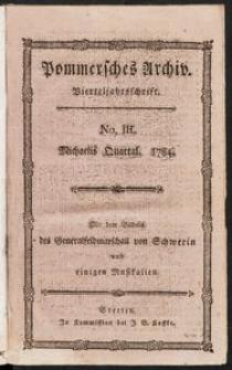 Pommersches Archiv der Wissenschaften und des Geschmaks